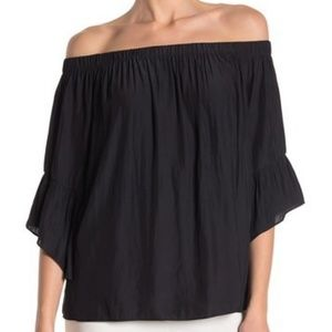 NWT Ramy Brook Off the Shoulder Bell Sleeve Blouse